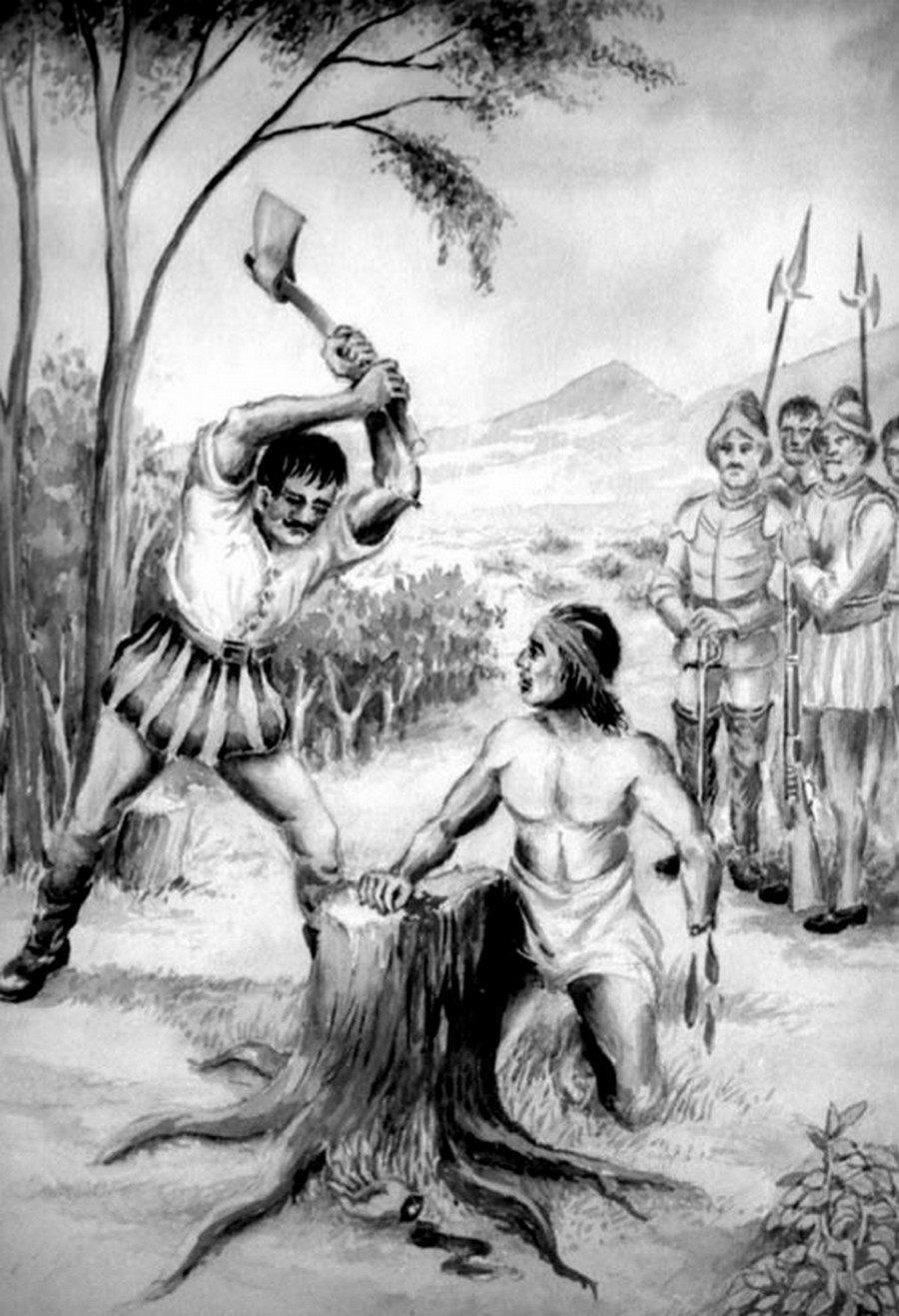 Mapuchi Warrior Galvarino