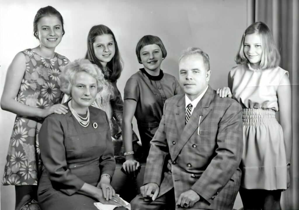 Anneliese Michel (left, in flowers printed short frock) with her family. Exorcism