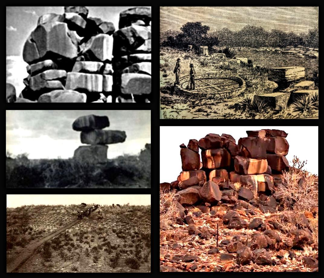 Rock structures found in the Kalahari desert