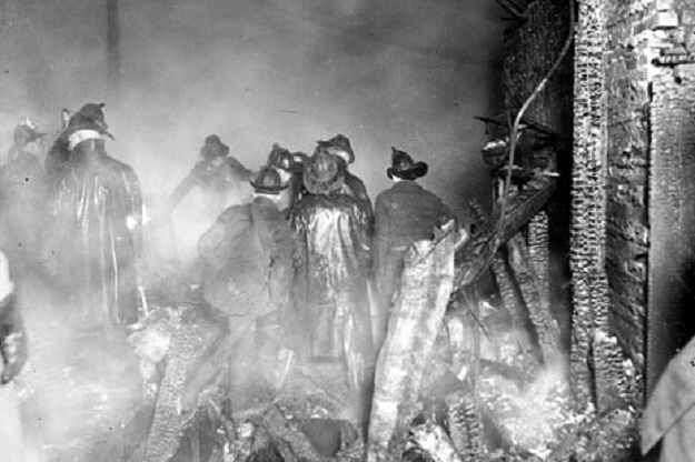 The dead firefighter Francis Leavy's ghostly handprint remains an unsolved mystery 6