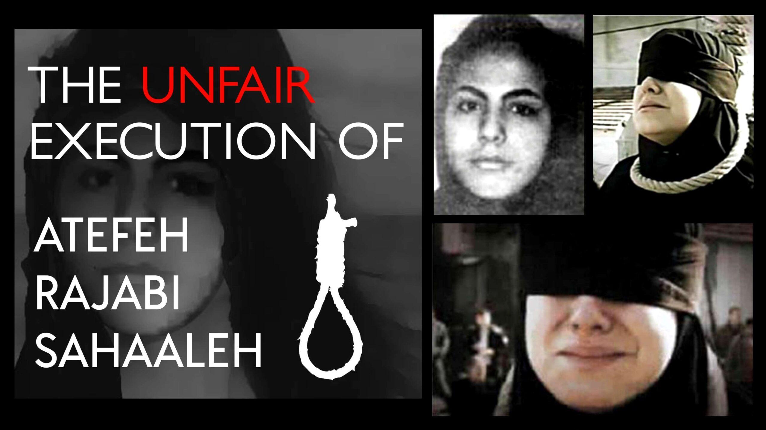 The tragic story of 16-year-old Iranian girlAtefeh Sahaaleh – An unfair execution! 4
