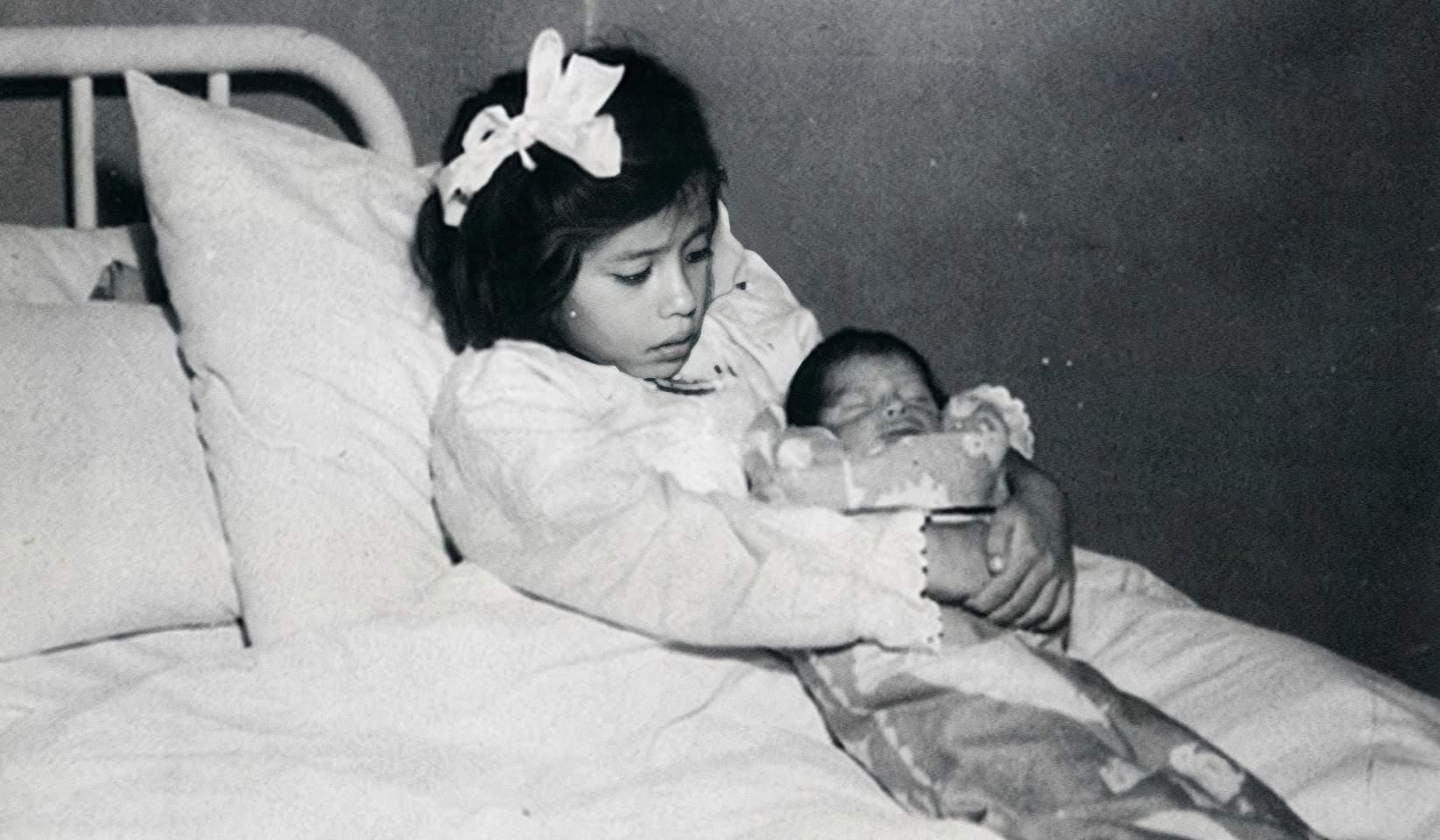 Lina Medina holding her child, Lima, Peru. (c.1933)