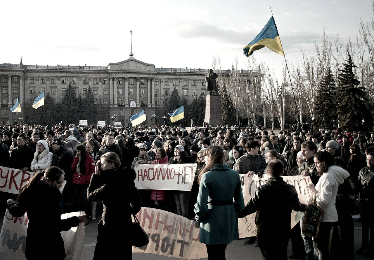 Protest in support of Makar on March 15 2012 in Mykolaiv. Photo: Wikipedia Creative Commons/Aleksandrit