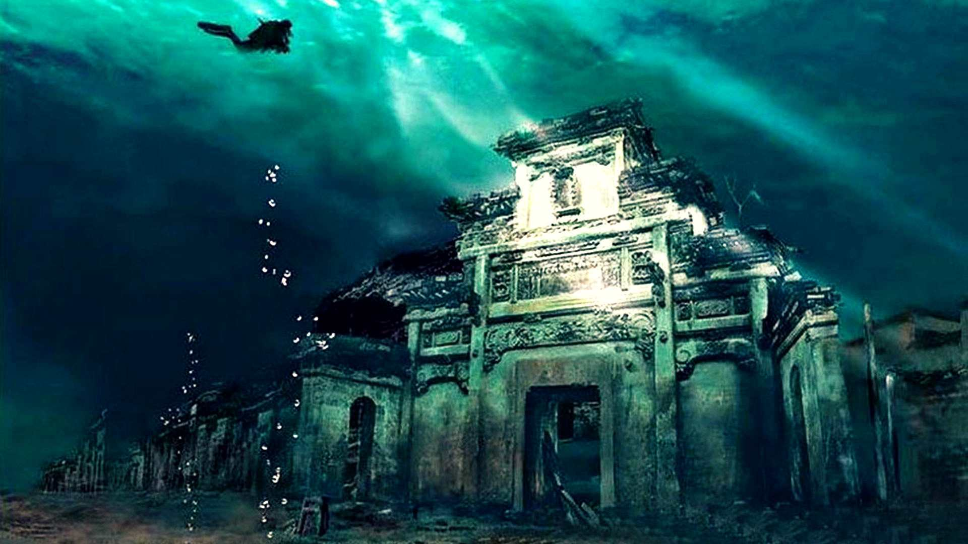 Onderwaterstad In Shicheng, China