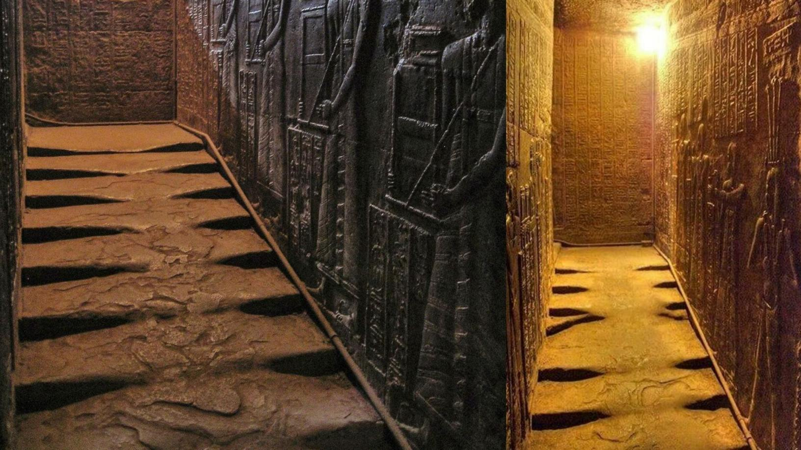 Melted stairs at Hathor Temple