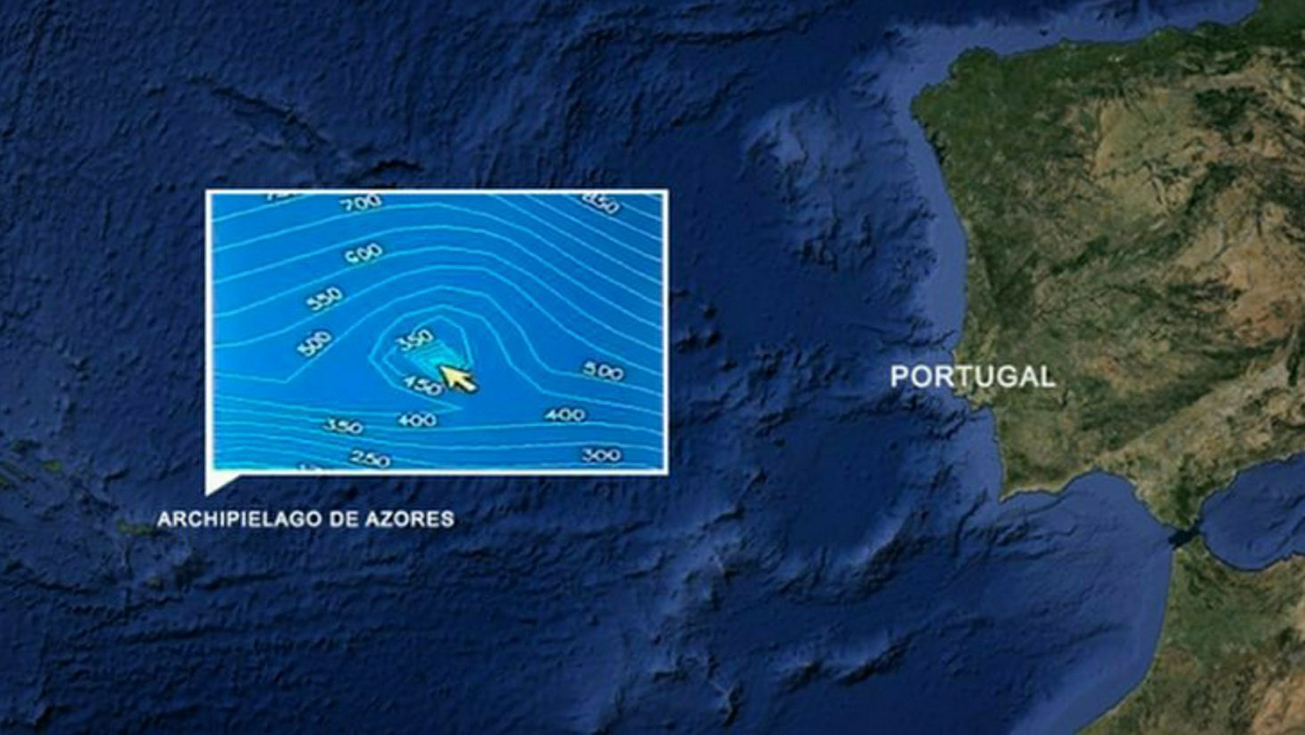 Submerged Pyramid Discovered Near Azores, Portugal