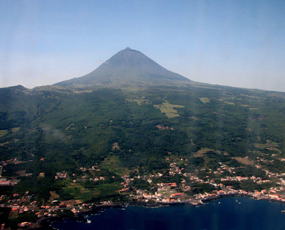 Island of pico pyramid found near Azores