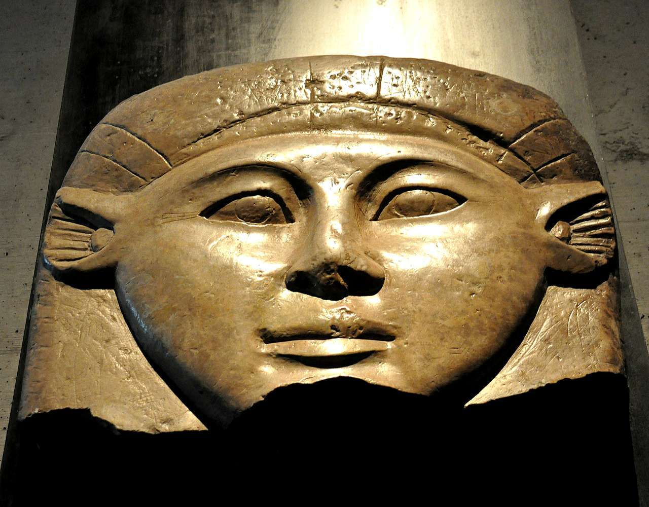 the head of the goddess Hathor, from Egypt