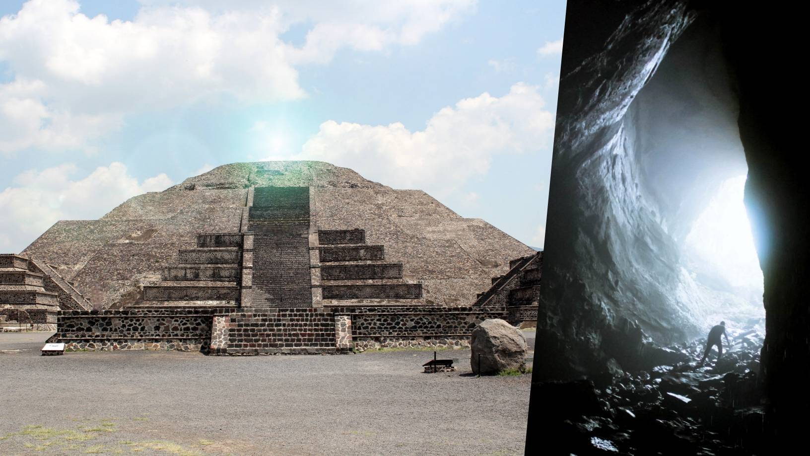 The Passage to the Underworld found under the pyramid of the Moon in Teotihuacán