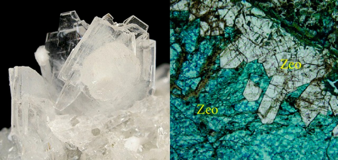 Quartz found in coarse sand and zeolite, a crystalline compound that is made up of silicon and aluminum, create a natural molecular sieve.
