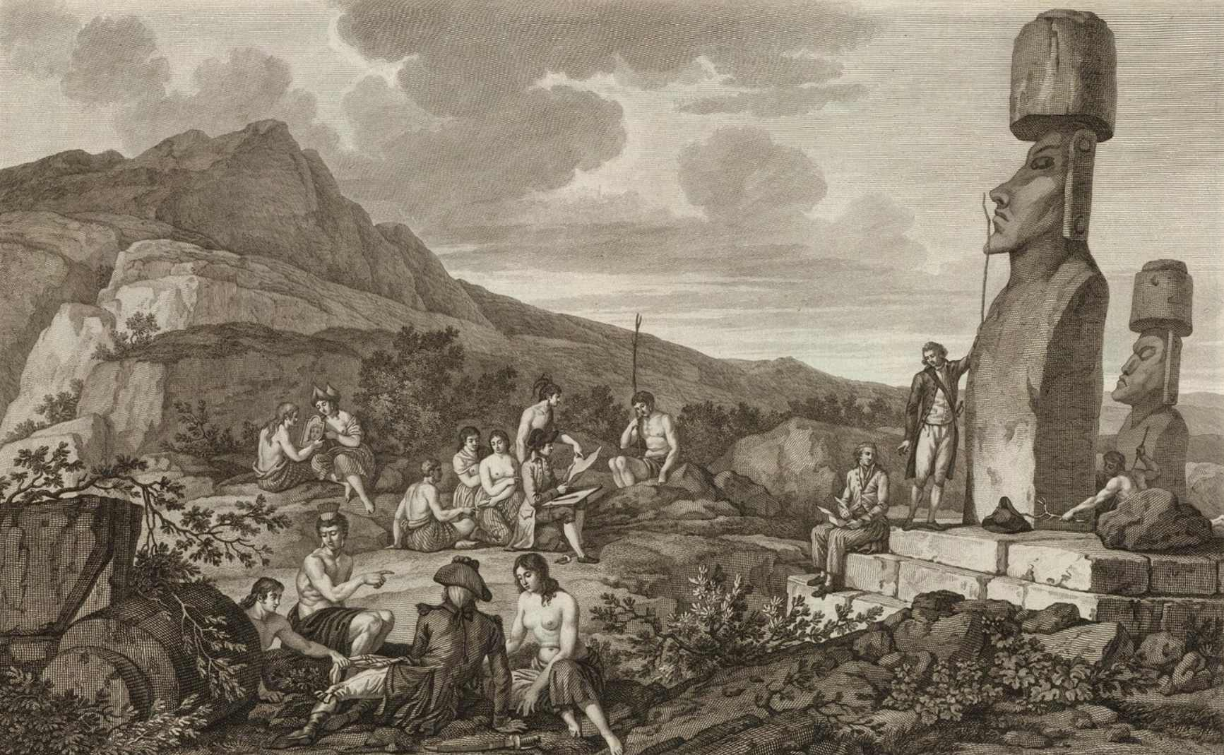 In 1722 when, on Easter Sunday, Dutchman Jacob Roggeveen discovered the island. He was the first European to discover this enigmatic island. Roggeveen and his crew estimated that there were 2,000 to 3,000 inhabitants on the island. Apparently, explorers reported fewer and fewer inhabitants as the years went on, until eventually, the population dwindled to less than 100 within a few decades. Now, it's estimated the island's population was around 12,000 at its peak.