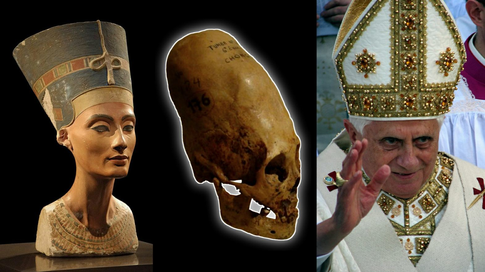 Queen Nefertiti, elongated skulls and the Pope's miter
