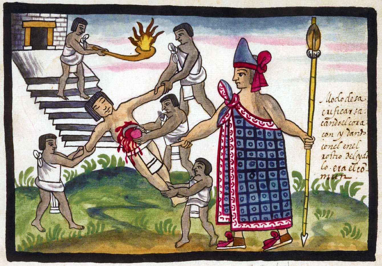 Sacrifice aztec