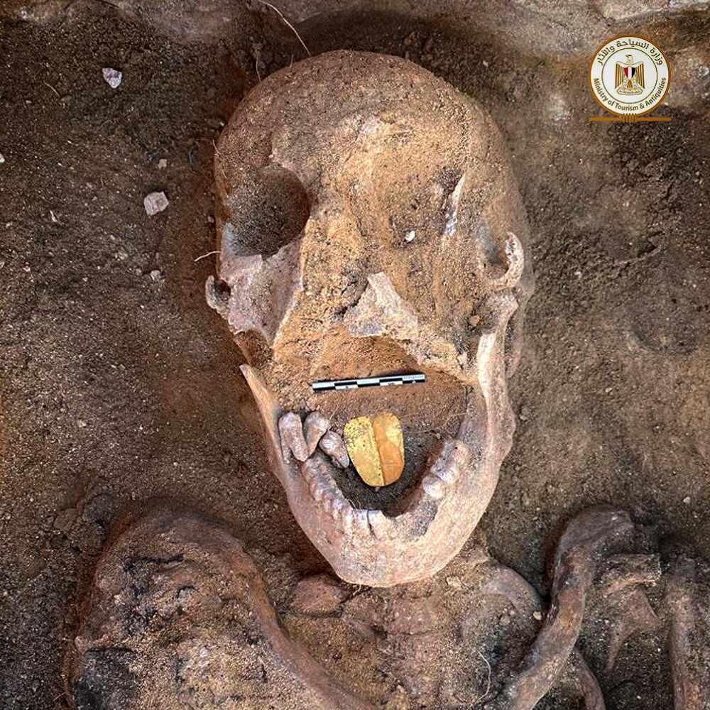 The 2,000-year-old mummy with a gold tongue