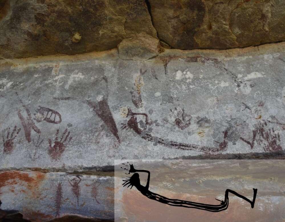 Peinture de kangourou de 17,300 ans