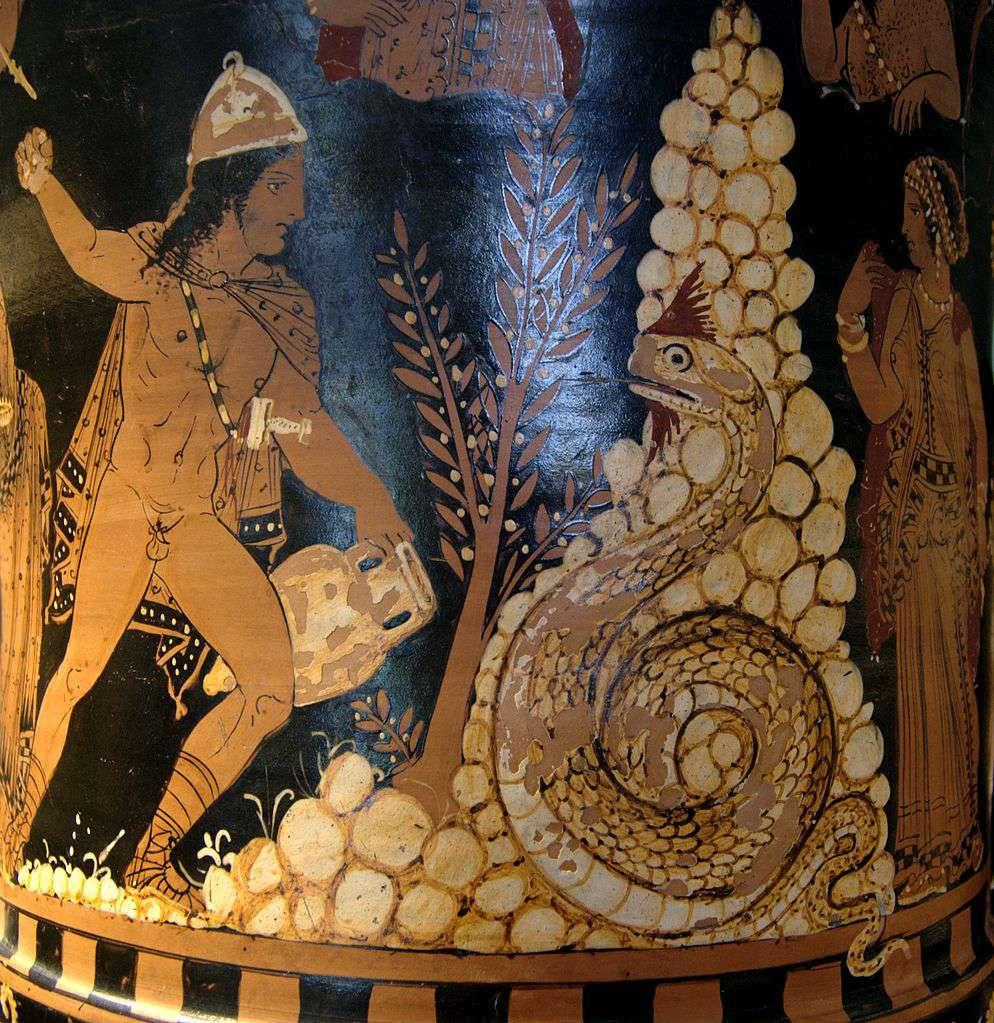 Cadmus, de Griekse mythologische figuur die orichalcum zou hebben gemaakt