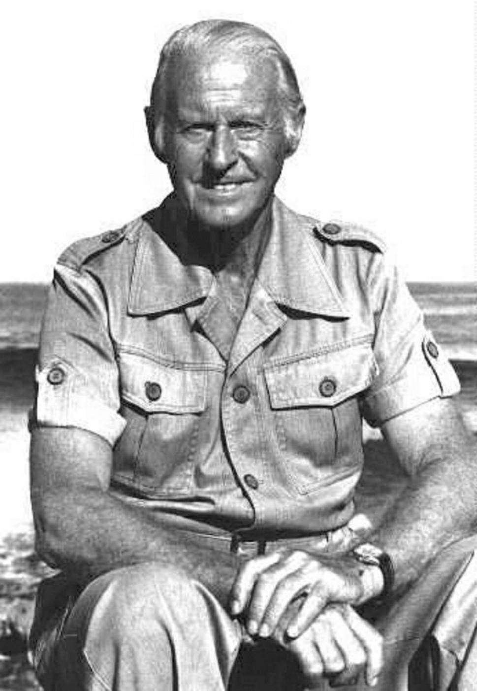 Portrait of Thor Heyerdahl, as a grown-up explorer.