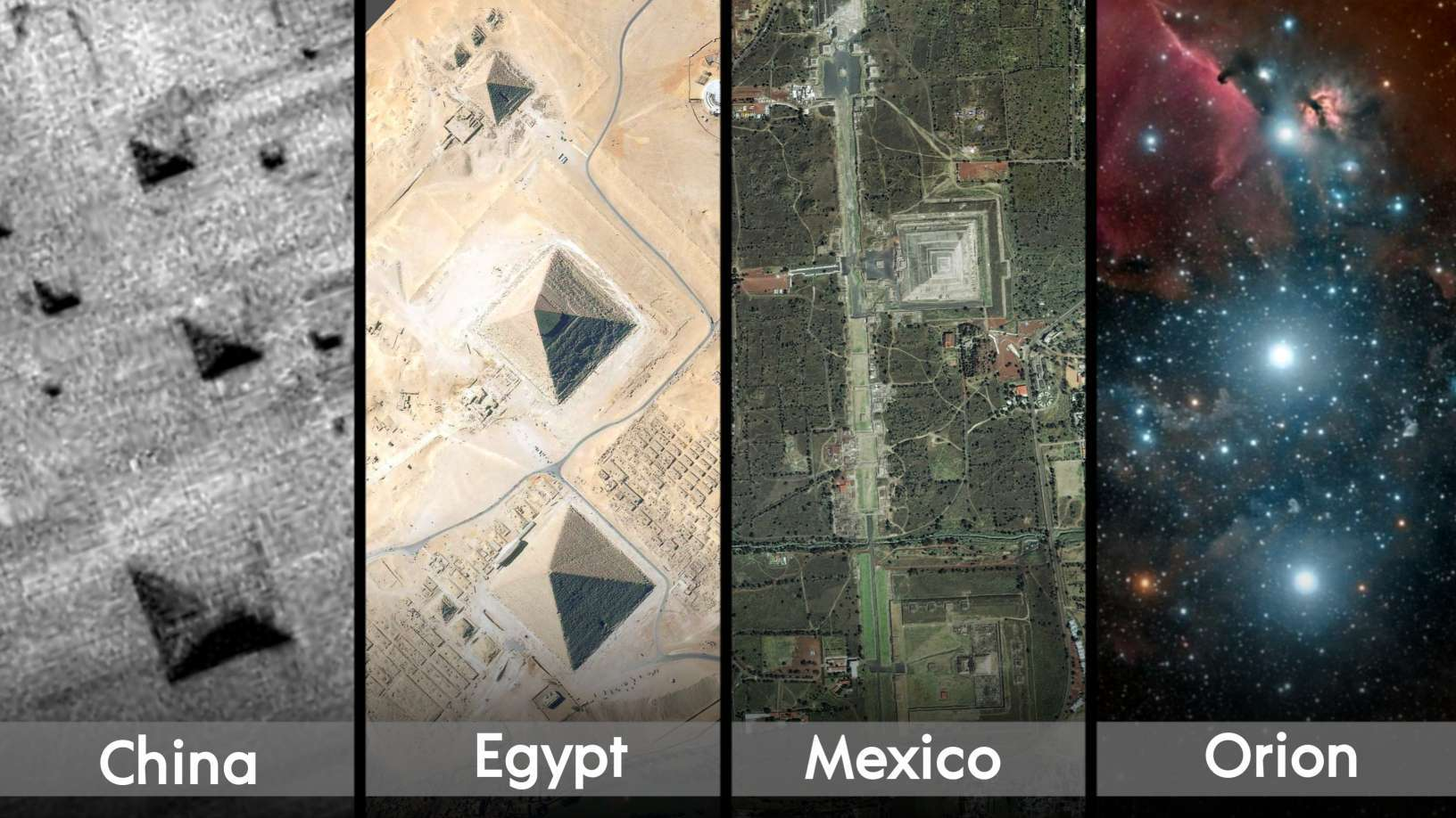 Monuments spread across planet Earth, have an incredible, precise alignment with Orions three stars; Alnitak, Alnilam, and Mintaka