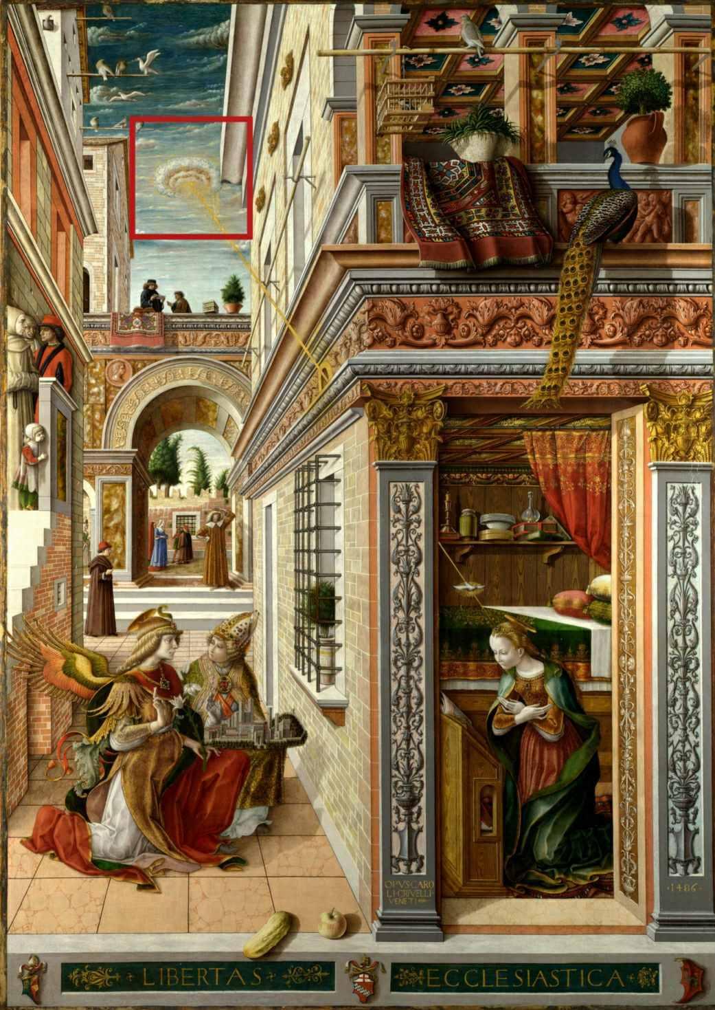 Ο Ευαγγελισμός, με τον Άγιο Εμίδιο