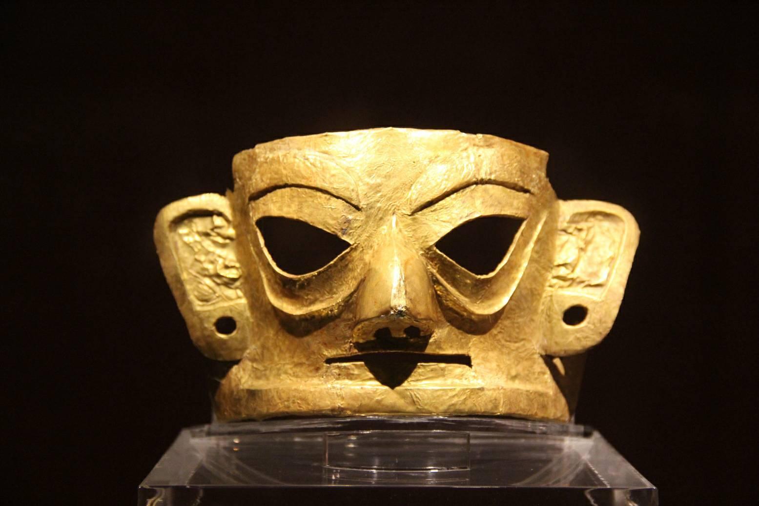 Golden Mask in Jinsha Site Museum, Chengdu City, Sichuan Province