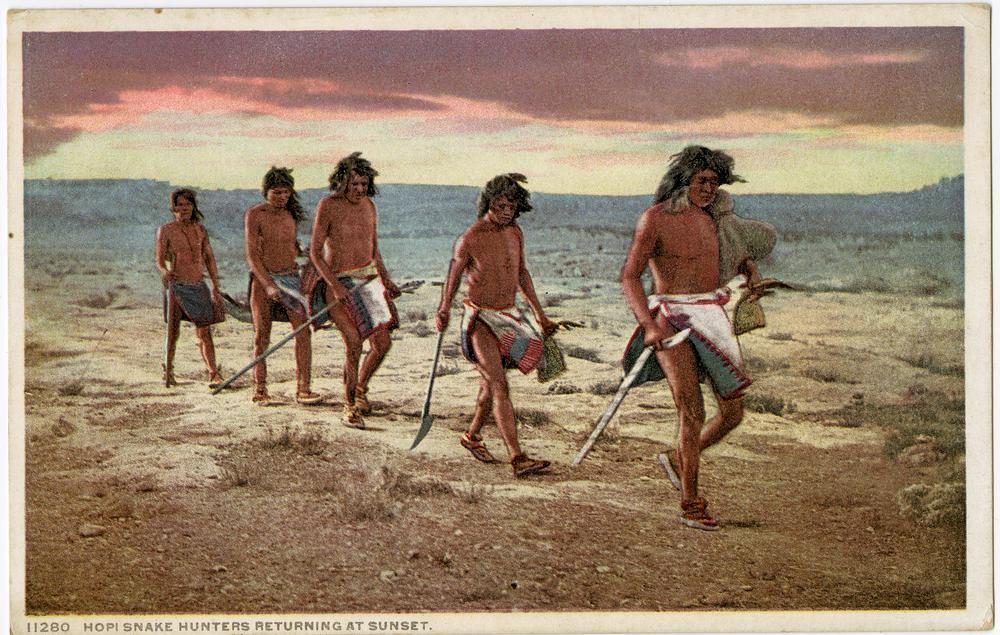 Hopi Snake Hunters returning at Sunset, Arizona