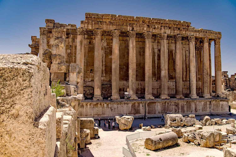 Temple Of Jupiter In Baalbek Lebanon
