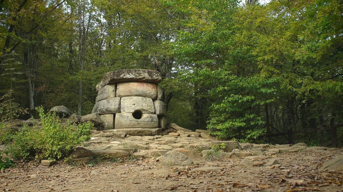 Caucasian dolmen of an unusual round shape