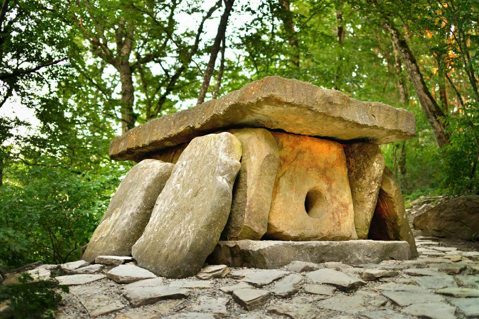 Burial dolmens continued to be used in the Late Bronze and Early Iron Ages