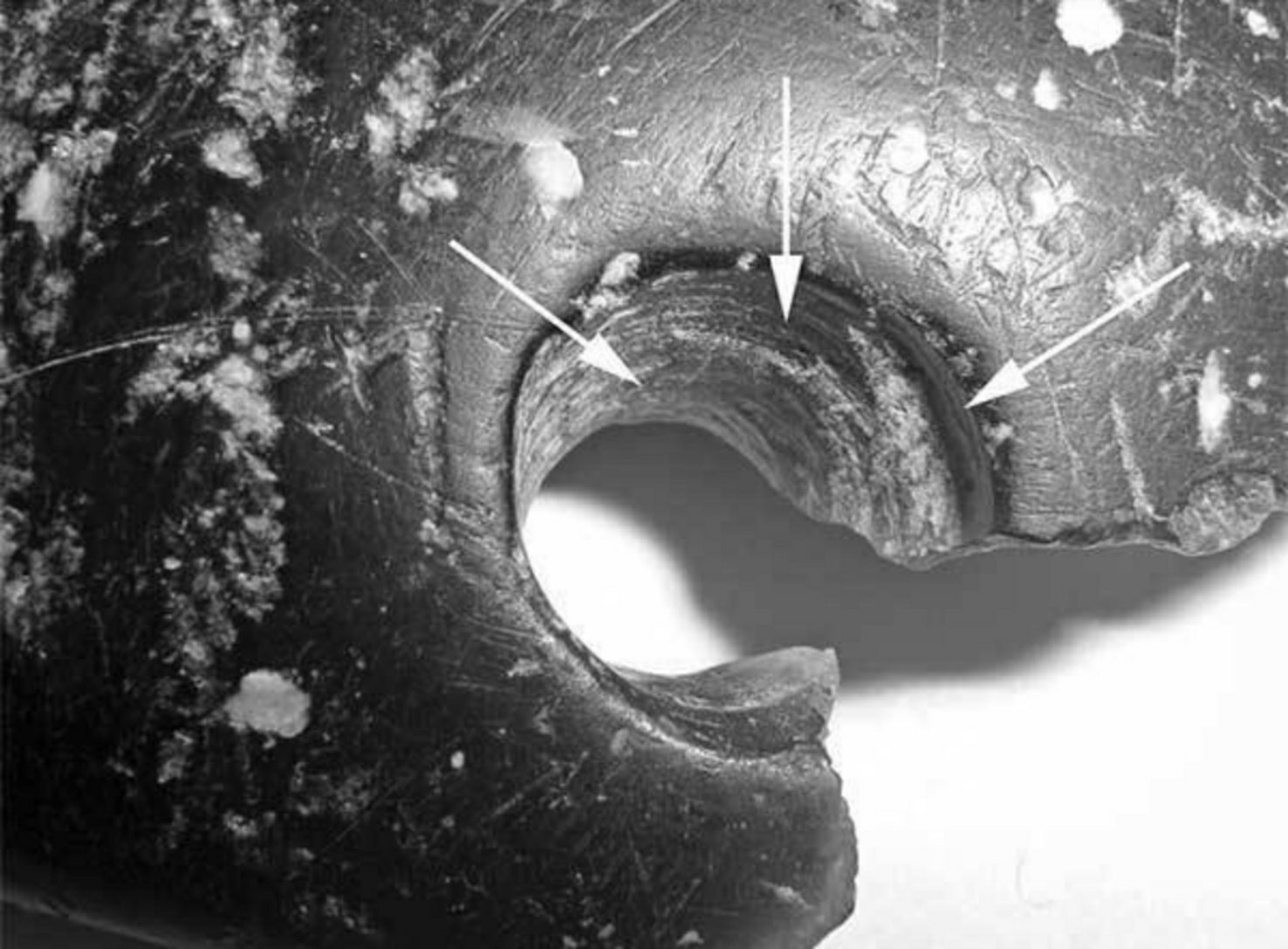Traces of the use of drilling with an implement on the bracelet from Denisova Cave