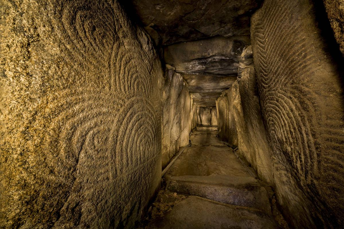 The great passage tomb of Gavrinis in Brittany