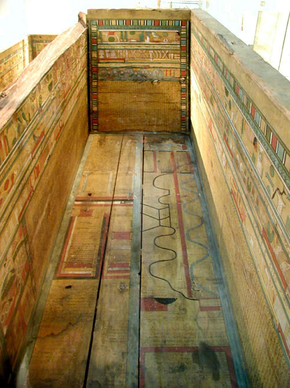 Map of the netherworld from the coffin of Gua, from Deir el-Bersha, Egypt. 12th Dynasty, 1985-1795 BC.