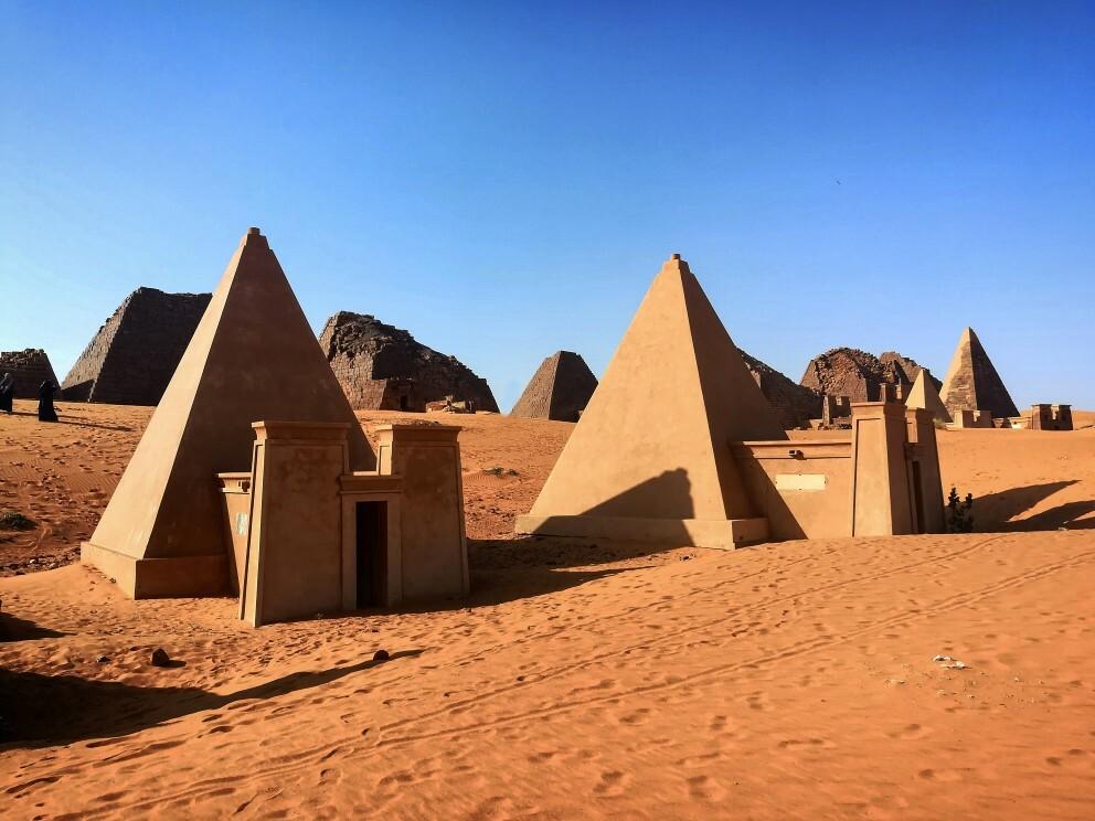 Pyramídy v Meroe v Bajrawiya v Sudáne