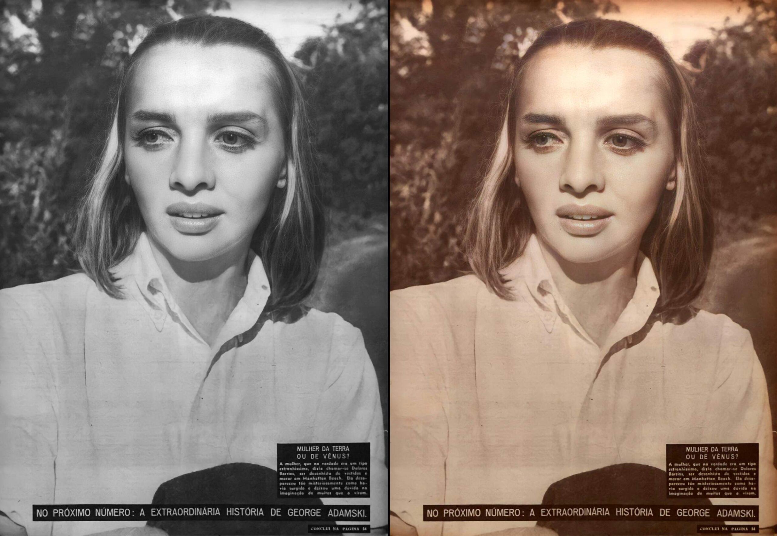 Βελτιωμένες και αποκατεστημένες φωτογραφίες της Dolores Barrios. © MRU