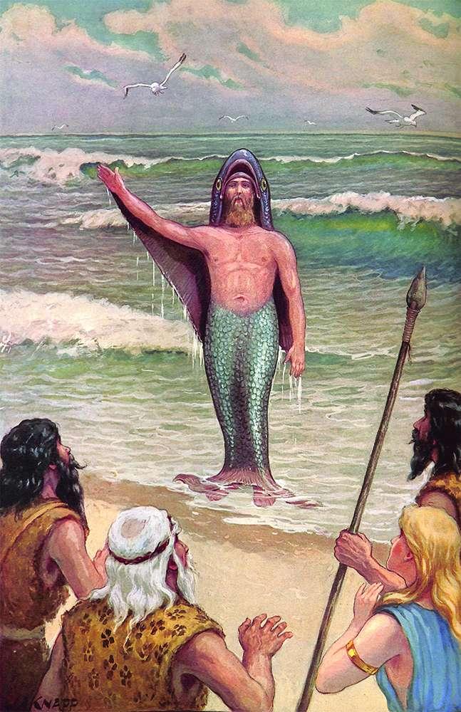 Oannes the amphibian god of ancient Iraq