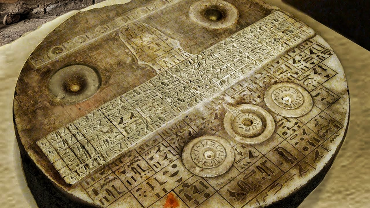 Forbidden archeology: The mysterious egyptian tablet that is similar to an aircraft control panel 2