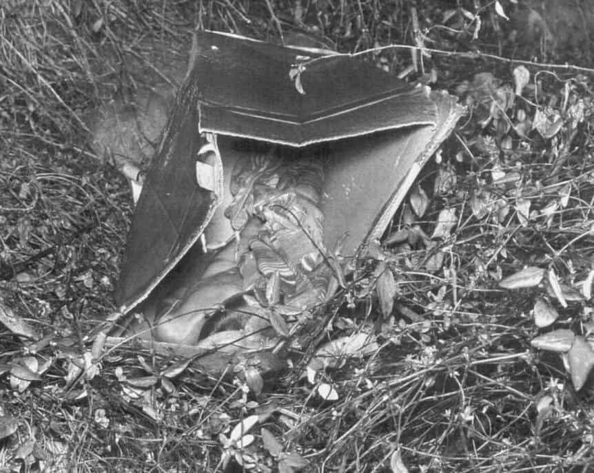 The crime scene where the boy in the box was found.