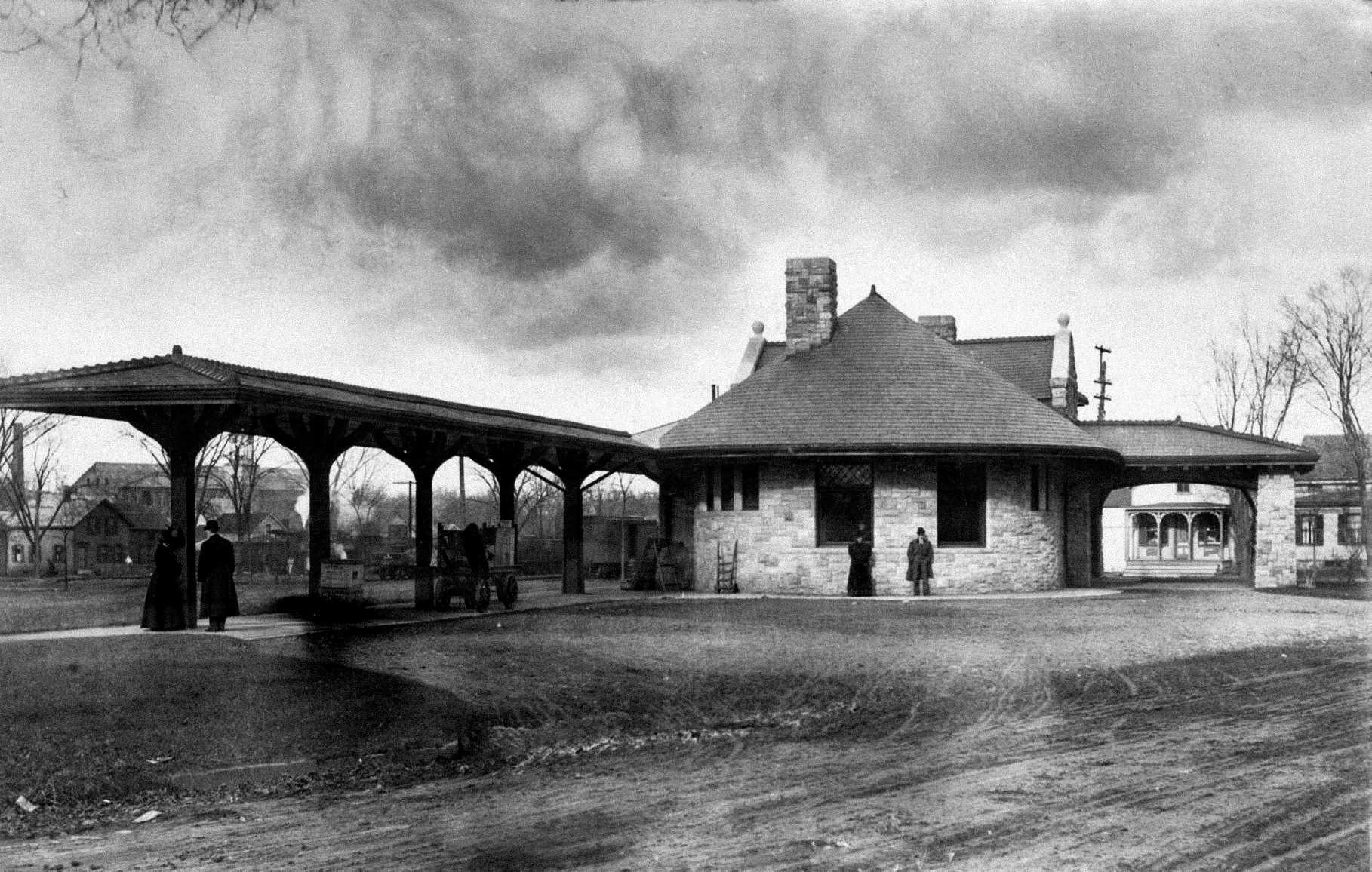 Bennington Railroad Station in 1907. © Image Credit: History InsideOut