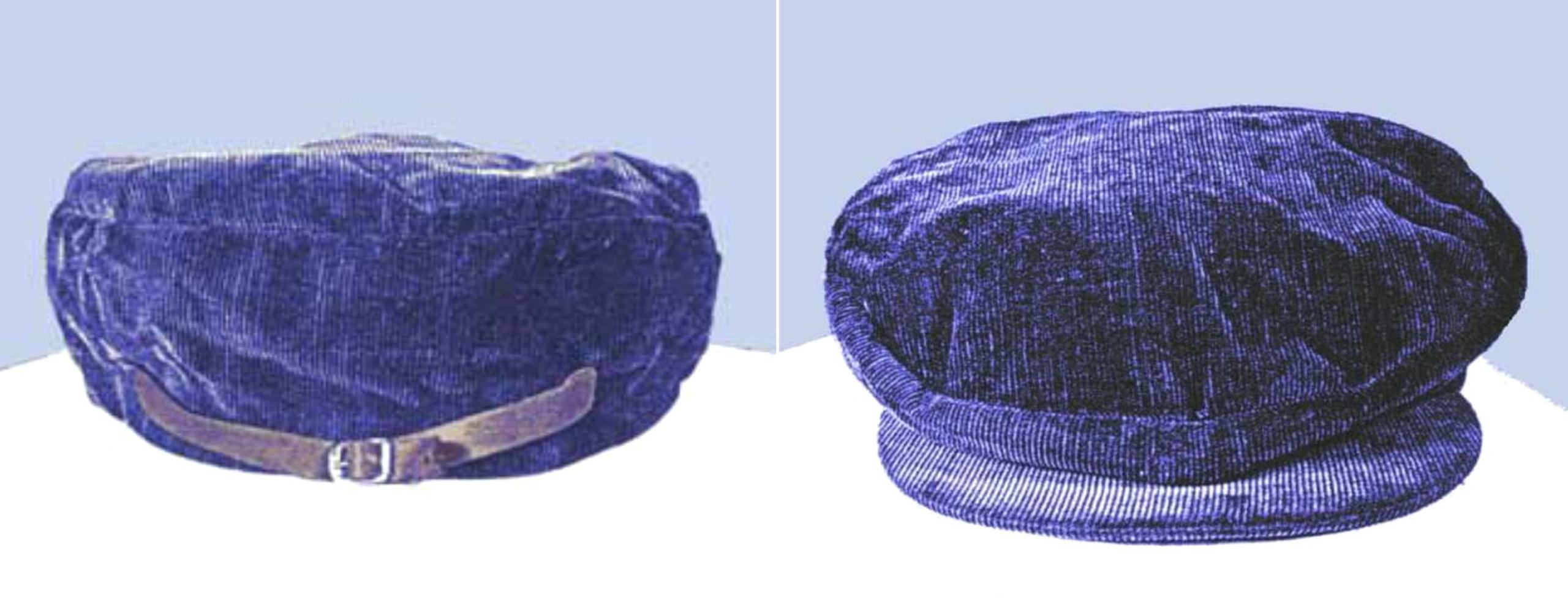 The blue corduroy cap found near the crime scene. © Image Credit: Americasunknownchild