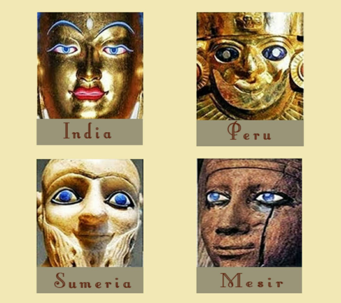 Many ancient civilizations depicted beings with blue eyes.