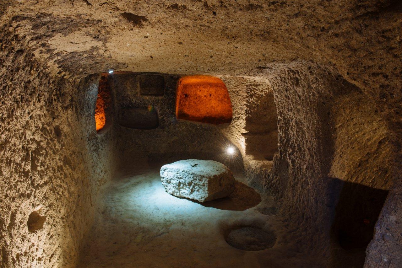 Derinkuyu the underground city in Cappadocia