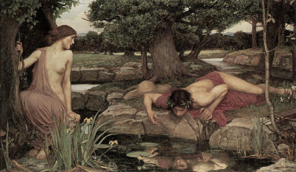Narcissus, die verliefd werd op zijn eigen spiegelbeeld 5
