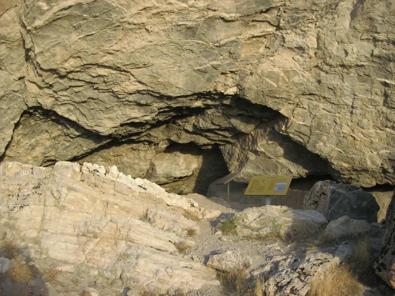 Vstup do jaskyne Lovelock, Nevada