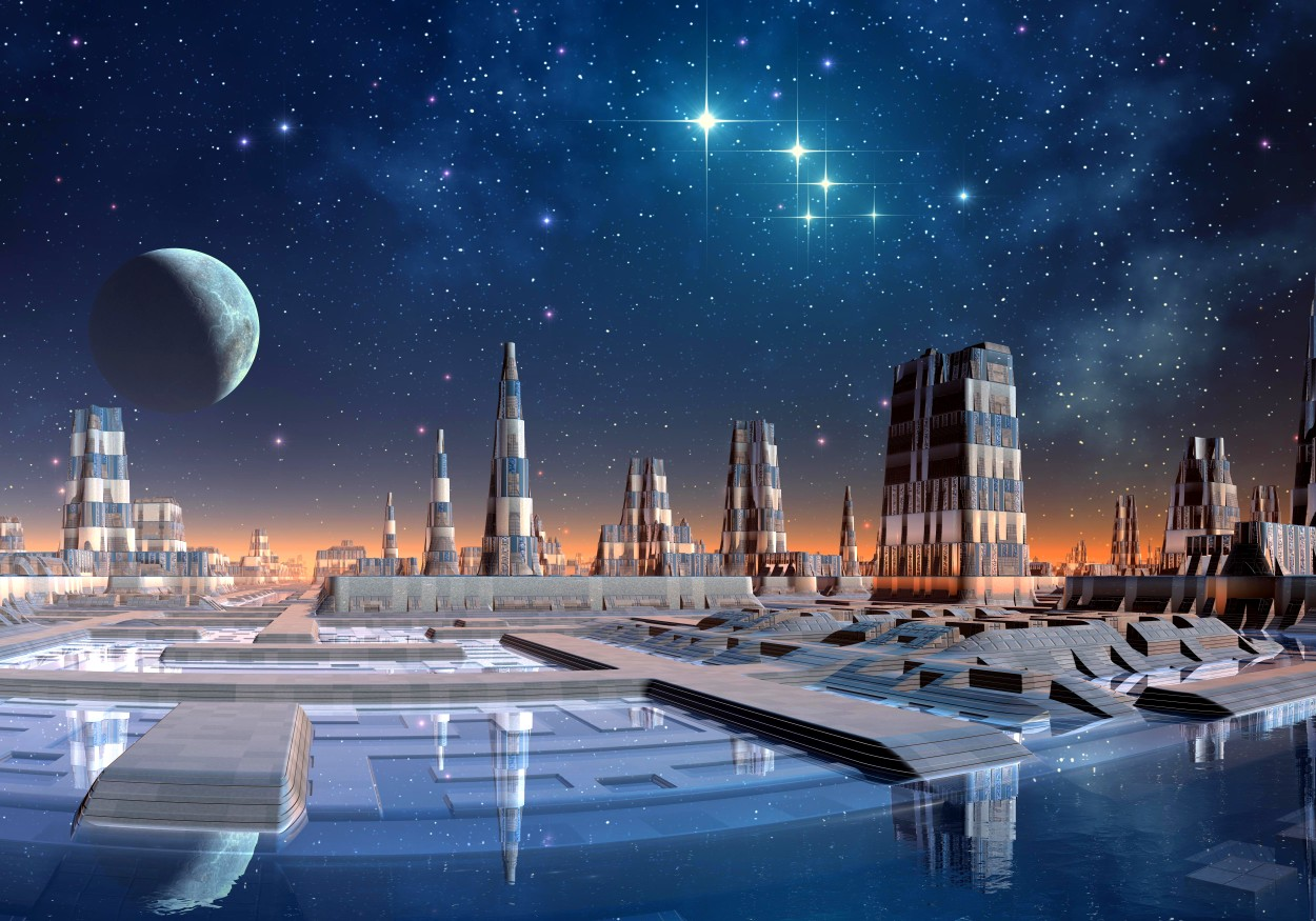 Une illustration de la civilisation extraterrestre avancée sur une autre planète. © Crédit d'image : Diversepixel | Sous licence de Depositphotos Inc. (Photo à usage éditorial/commercial)