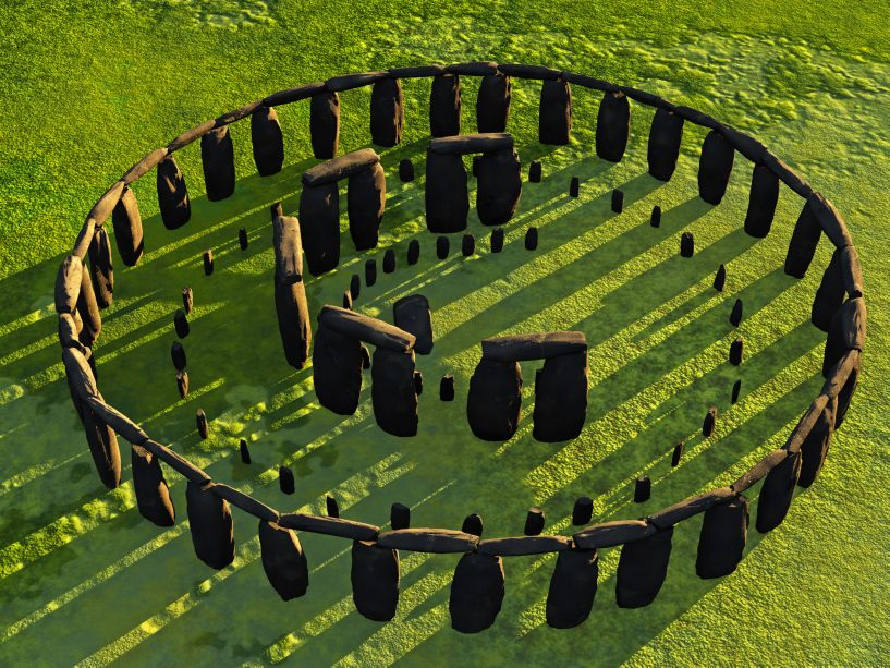 Digital rendering of an overhead view of Stonehenge. © Image Credit: George Bailey   Licensed from DreamsTime.com (Editorial/Commercial Use Stock Photo, ID:16927974)