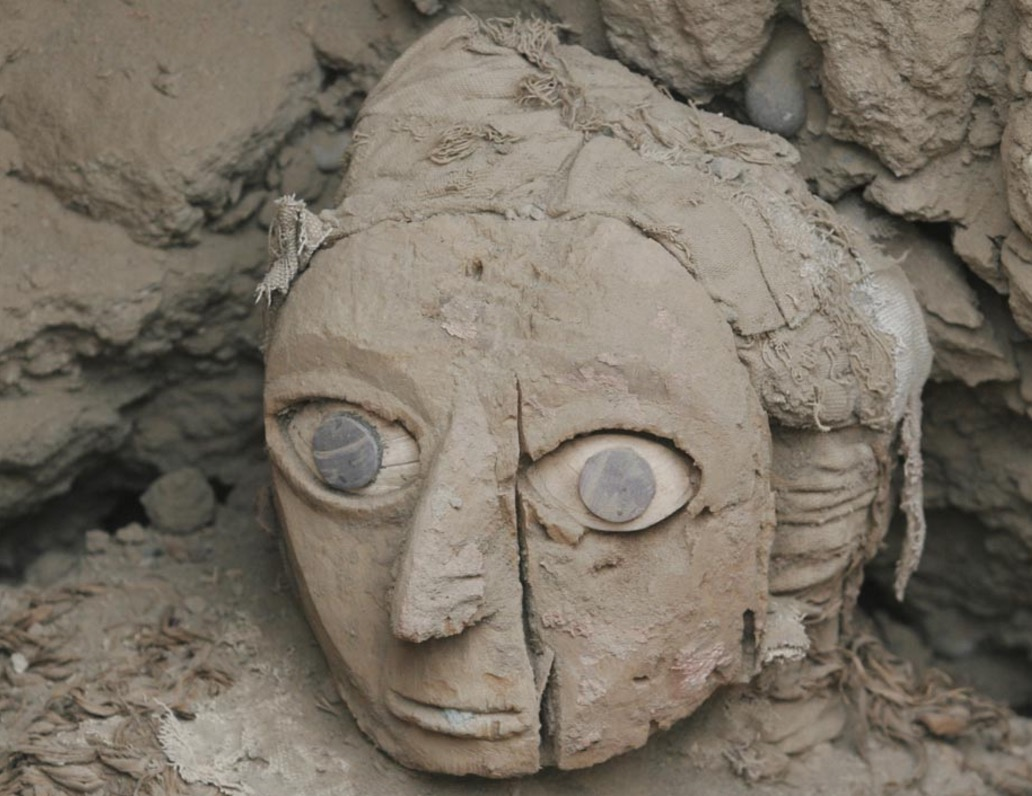 The ancient Wari mummy, known as the Lady of the Mask discovered in Peru, became famous for her enigmatic blue eyes.