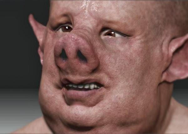 Illustration of pig-man. © Image Credit: Phantoms & Monsters