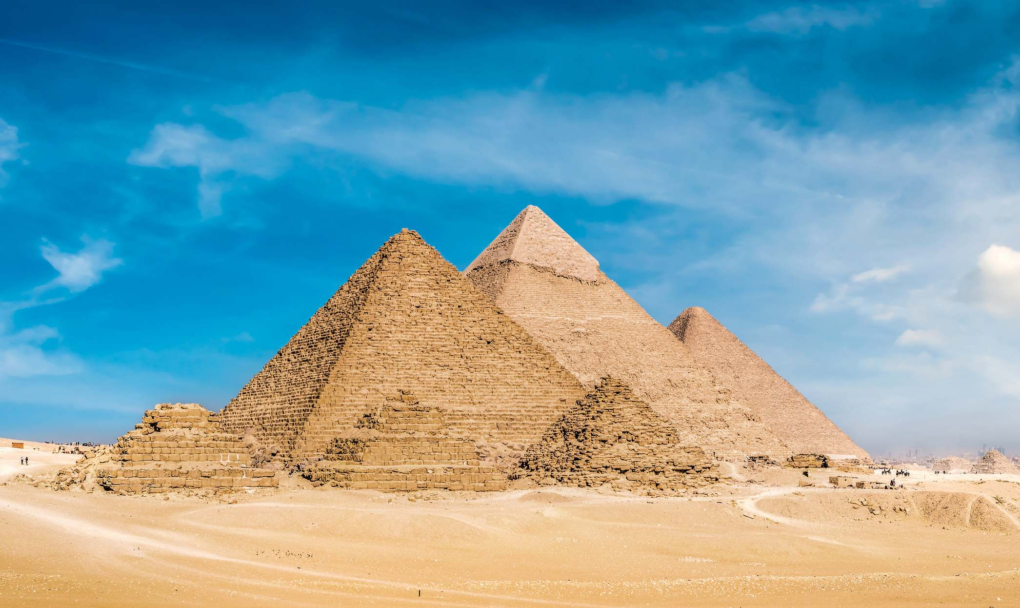 Giza pyramids, Cairo, Egypt, Africa. View of pyramids from the Giza Plateau © Image Credit: Feili Chen | Licensed from Dreamstime.Com (Editorial/Commercial Use Stock Photo)